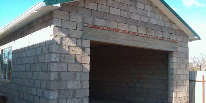 гараж из шлакоблоков - самостоятельное строительство