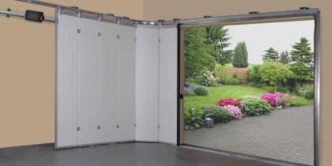 виды ворот для гаража - подъемные.