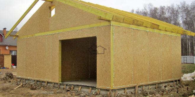 Как построить гараж из панелей своими руками